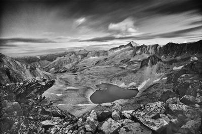 View From the Northeast Ridge of Capitol Peak to Pierre Lakes by David Hiser