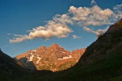 View Southwest to Maroon Peaks in the Maroon - Snowmass Wilderness Area by David Hiser