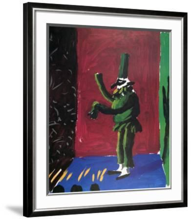 Pulcinella with Applause No. 107, 1980 by David Hockney