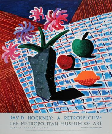 Still Life with Flowers by David Hockney