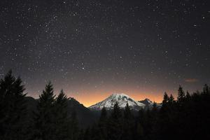 Mt. Rainier at Night by David Hogan