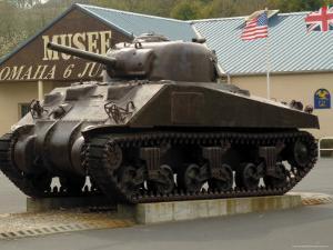 American Sherman Tank, Omaha Beach Museum, Normandy, France by David Hughes