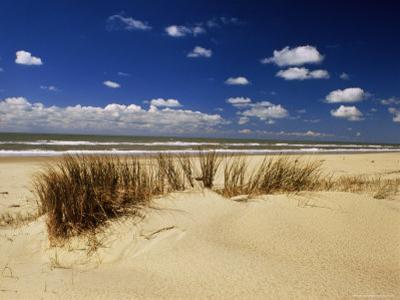 Beach, Cote d'Argent, Gironde, Aquitaine, France by David Hughes
