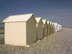 Beach Huts, Cayeux Sur Mer, Picardy, France by David Hughes