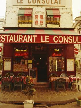 Cafe Restaurant, Montmartre, Paris, France, Europe by David Hughes