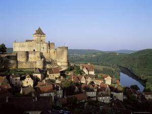 Chateau De Castelnaud, Dating from the 12th Century, Above the River Dordogne, Aquitaine, France by David Hughes
