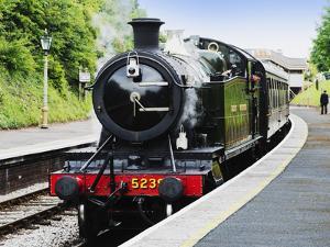 Dartmouth and Paignton Railway, Kingswear Station, Dartmouth, Devon, England, United Kingdom, Europ by David Hughes