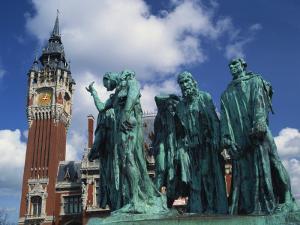 Monument to the Burghers of Calais by Rodin, Calais, Nord Pas De Calais, France by David Hughes