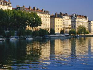 River Saone, Lyon, Rhone Valley, France, Europe by David Hughes