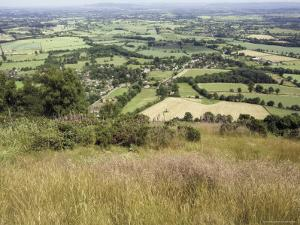 The Vale of Evesham from the Main Ridge of the Malvern Hills, Worcestershire, England by David Hughes