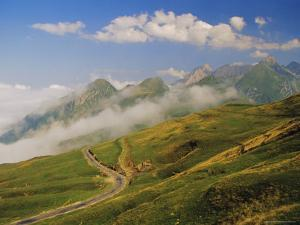 View from Col d'Aubisque, Pyrenees-Atlantique, Pyrenees, Aquitaine, France, Europe by David Hughes