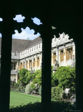 Cloister Quadrangle Detail, Magdalen College, Oxford, Oxfordshire, England, United Kingdom by David Hunter