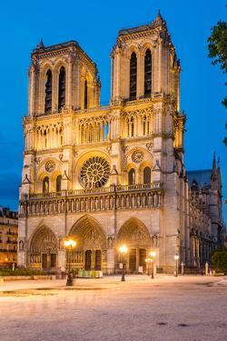Notre Dame De Paris Cathedral-Night View by David Ionut