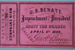 Johnson Impeachment Ticket by David J. Frent