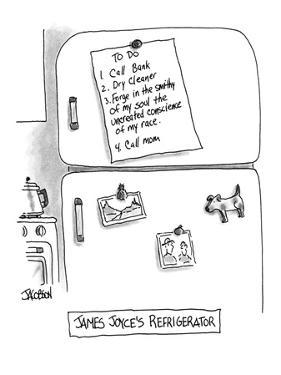 James Joyce's Refrigerator' - New Yorker Cartoon by David Jacobson