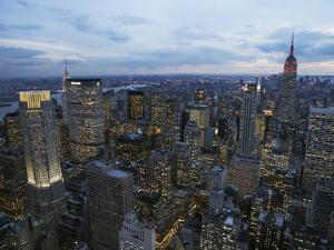 Midtown Manhattan Sparkles at Dusk by David Jay Zimmerman