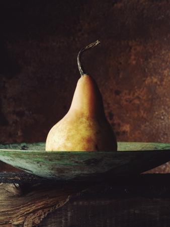 Single Pear in Bowl by David Jay Zimmerman