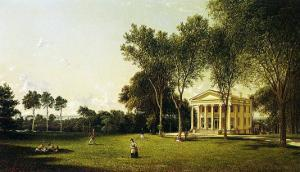 A Game of Croquet, 1873 by David Johnson