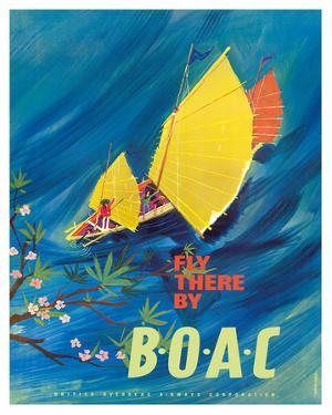 The Orient - Fly There By BOAC - Hong Kong Thailand Cambodia Asia by David Judd