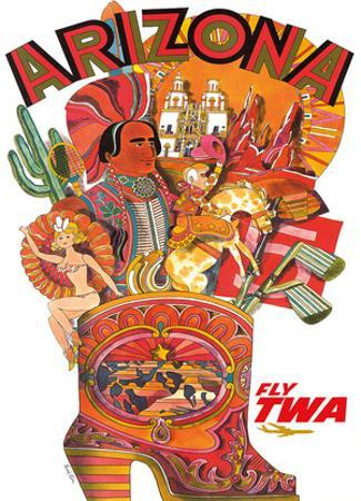 Arizona - Fly TWA (Trans World Airlines) by David Klein