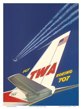 Boeing 707 - Fly TWA (Trans World Airlines) by David Klein