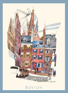 Boston, Massachusetts - Menu Cover - TWA (Trans World Airlines) by David Klein