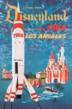 Disneyland - Los Angeles - Fly TWA (Trans World Airlines) - Tomorrowland TWA Moonliner by David Klein