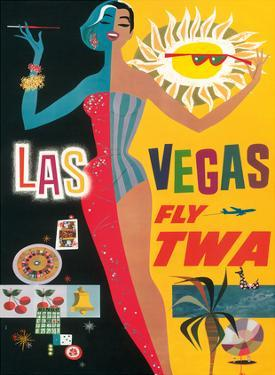 Fly TWA Las Vegas, c.1960 by David Klein