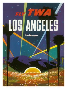 Fly TWA Los Angeles, Hollywood Bowl, c.1958 by David Klein