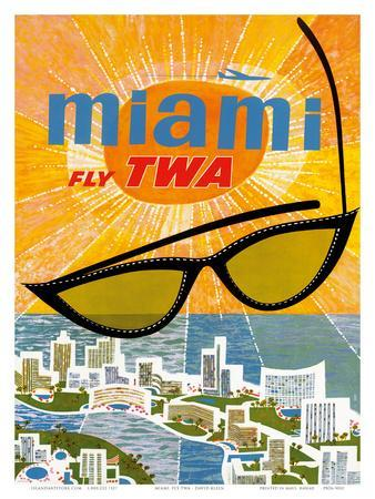 Fly TWA Miami c.1963