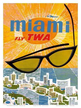 Fly TWA Miami c.1963 by David Klein