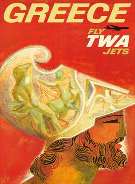 Greece - Fly TWA Jets (Trans World Airlines) - Greek Warrior by David Klein