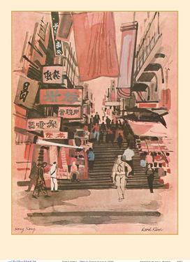 Hong Kong - TWA (Trans World Airlines) Menu Cover by David Klein
