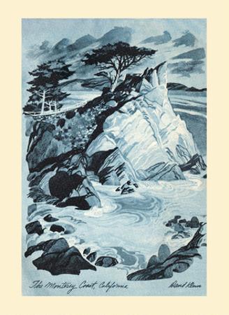 Monterey Coast, California - TWA (Trans World Airlines) Menu Cover by David Klein