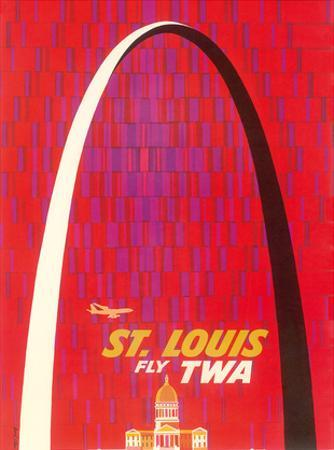 St. Louis, USA - Fly TWA (Trans World Airlines) - The Gateway Arch Monument by David Klein