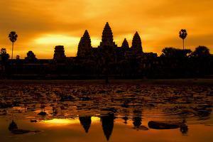 Angkor Wat at Sunrise by David Lazar