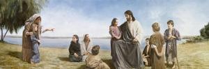 Jesus with Children by David Lindsley