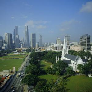 Aerial View, Singapore, Asia by David Lomax