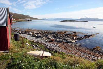 Boat House and Slip. Helgoy, Kvalsund, North Norway, Norway, Scandinavia, Europe by David Lomax