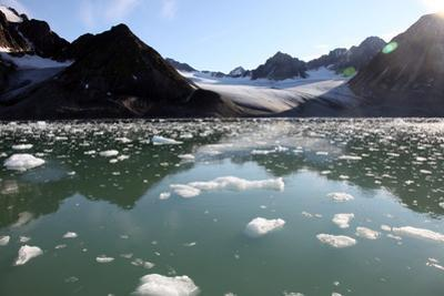 Brash Ice from the Waggonbreen Glacier, Magdalenefjord, Svalbard by David Lomax