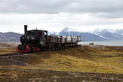 Coal Trucks and Locomotive Preserved as a Monument at Ny Alesund by David Lomax