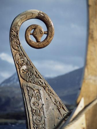 Detail of the Replica of a 9th Century Ad Viking Ship, Oseberg, Norway, Scandinavia, Europe by David Lomax