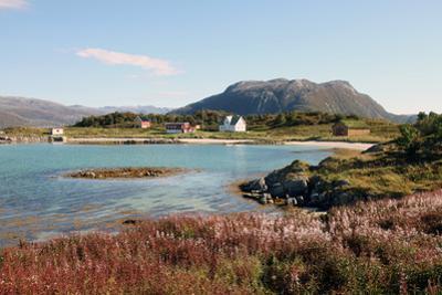 Farmhouse at Gasvaer, Kvalfjord, Troms, North Norway, Norway, Scandinavia, Europe by David Lomax