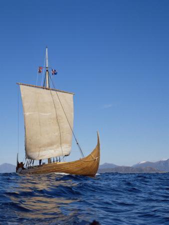 Gaia, Replica Viking Ship, Norway, Scandinavia by David Lomax