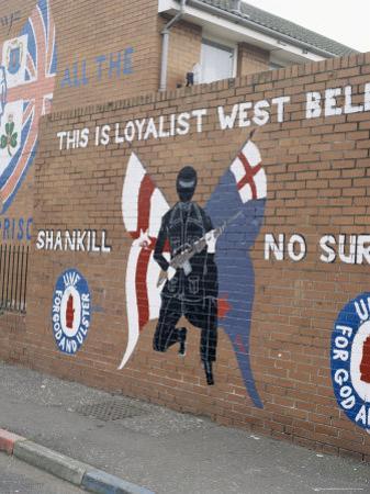 Loyalist Mural, Shankill Road, Belfast, Northern Ireland, United Kingdom by David Lomax