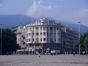 Main Square, Skopje, Macedonia by David Lomax