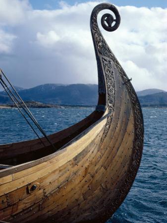 Oseberg Replica Viking Ship, Norway by David Lomax