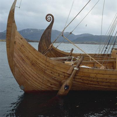 Replica Viking Ships, Oseberg and Gaia, Haholmen, West Norway, Norway, Scandinavia, Europe