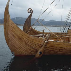 Replica Viking Ships, Oseberg and Gaia, Haholmen, West Norway, Norway, Scandinavia, Europe by David Lomax