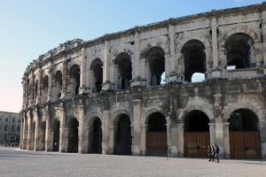 Roman Amphitheatre, Nimes, Gard, Languedoc-Roussillon, France, Europe by David Lomax